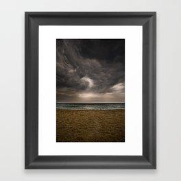 Barceloneta storm Framed Art Print