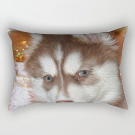 Husky Eyes Rectangular Pillow
