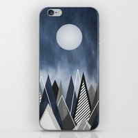 Midnight Mountains iPhone & iPod Skin