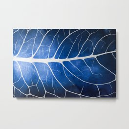 Glowing Grunge Veins Metal Print