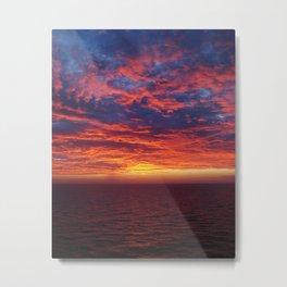 Gulf Sunset Metal Print