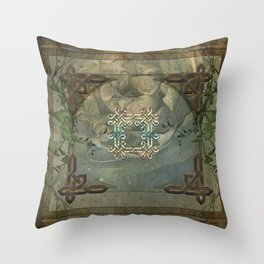 Wonderful decorative celtic knot Throw Pillow
