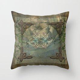 Wonderful decorative celtic knot Throw Pillow