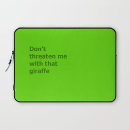 Green Butcher's Quote  Laptop Sleeve