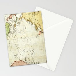 Vintage Christopher Columbus Voyage Map (1828) Stationery Cards