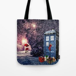 Tardis Christmas Tote Bag
