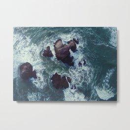 Raging Sea Metal Print