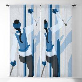 Birkebeinerrennet Birkebeiner Nordic Skiing by Dennis Weber ShreddyStudio Blackout Curtain