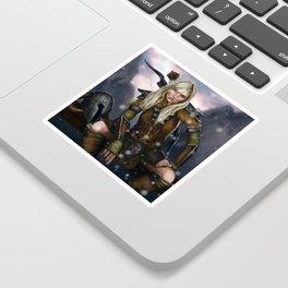 Fantasy Nordic Ranger Woman Sticker