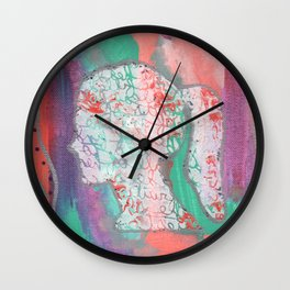 Growth Abstract Painting Wall Clock