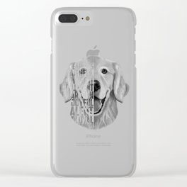 Golden Retriever PNG, Dog Print, Print for T shirt, Golden Retriever Gift, Subway Art, Golden Retrie Clear iPhone Case