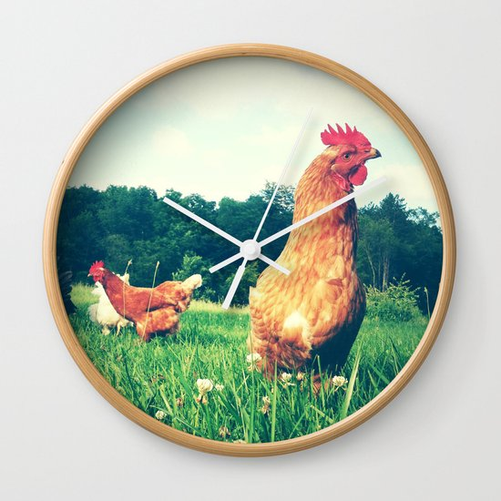 The Life of a Chicken Wall Clock