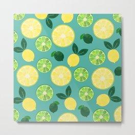 Lemon Lime Metal Print