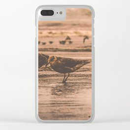 Ocean Seagulls Clear iPhone Case