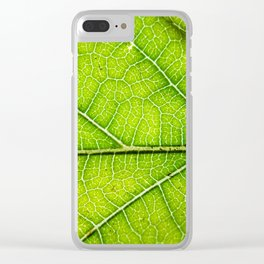 Macro Leaf no 9 Clear iPhone Case