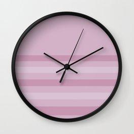 Pink stripe Wall Clock
