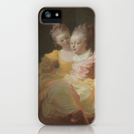 The Two Sisters by Jean-Honoré Fragonard iPhone Case