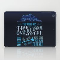 stephen king iPad Cases featuring The World Was The Overlook Hotel - Stephen King Quote by Evie Seo