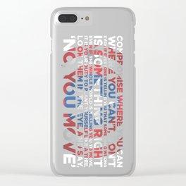 Civil War Quote Clear iPhone Case