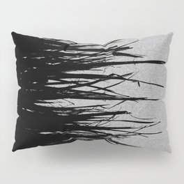 Concrete Fringe Black on Side Pillow Sham