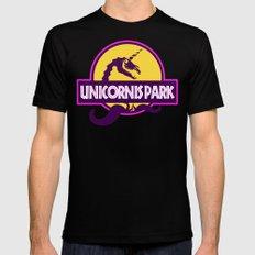 Unicornis Park Black Mens Fitted Tee MEDIUM