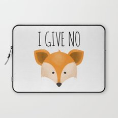 I Give No Fox Laptop Sleeve