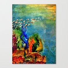 Fish Swarm Canvas Print