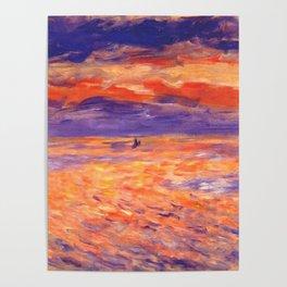 "Auguste Renoir ""Sunset at sea"" Poster"