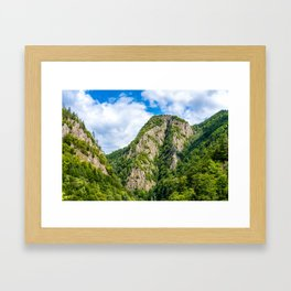 Carpathian Mountains View On Transfagarasan Road In Romania, Summer Landscape, Transylvania Mountain Framed Art Print