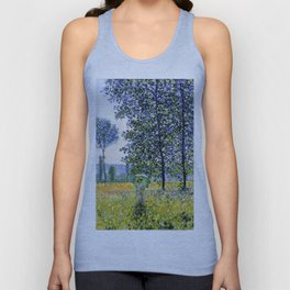 "Claude Monet ""Sunlight Effect under the Poplars"", 1887 Unisex Tank Top"