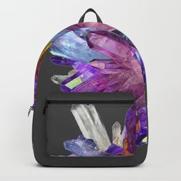 CRYSTALLINE RADIATING CLUSTER OF AMETHYST & QUARTZ Backpack