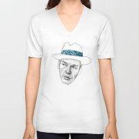 frank sinatra V-neck T-shirts featuring Sinatra by Jason Ratliff