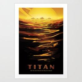 NASA Retro Space Travel Poster #12 - Titan Art Print