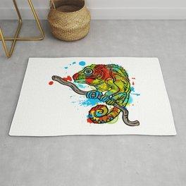 Colorful Chameleon Rug