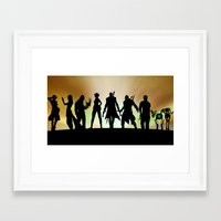 gaming Framed Art Prints featuring Gaming Poster by Danyul