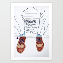 Businessmen Butts Art Print