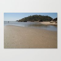 monkey island Canvas Prints featuring Walking Towards Monkey Island Palolem by Serenity Photography