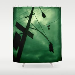 Shoes and Wires Shower Curtain
