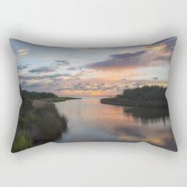 Sound Side Sunset Rectangular Pillow