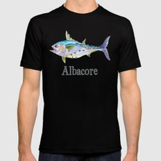 A is for Albacore MEDIUM Mens Fitted Tee Black