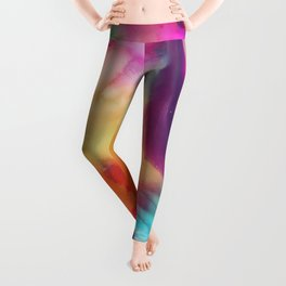 Spirit watercolor abstraction painting Leggings