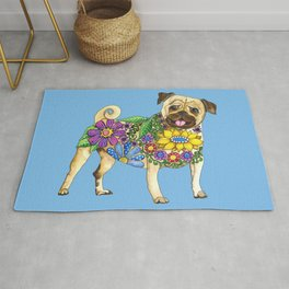 The Pugster (Blue) Rug