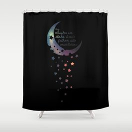 Stars I can't fathom into constellations Shower Curtain