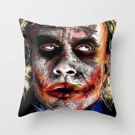The Joker Painted Throw Pillow