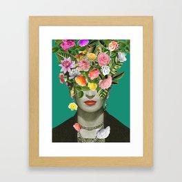 Frida Floral Gerahmter Kunstdruck