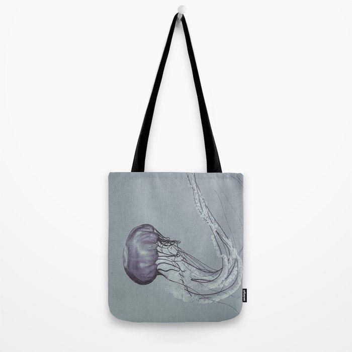 Black and White Jellyfish II Tote Bag