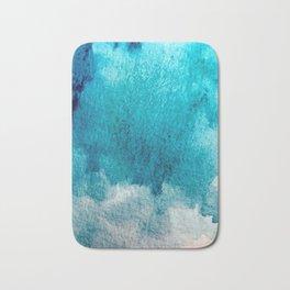 Rest: a minimal, blue abstract piece Bath Mat