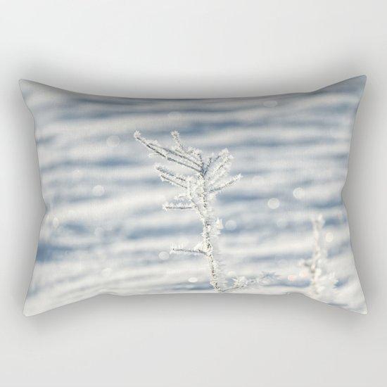 Sparkling hoar frost Rectangular Pillow