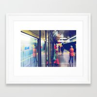 subway Framed Art Prints featuring subway. by zenitt
