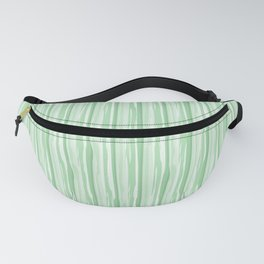 Pastel Mint Green Vertical Grunge Line Pattern Pairs to Coloro 2020 Color of the Year Neo Mint Fanny Pack